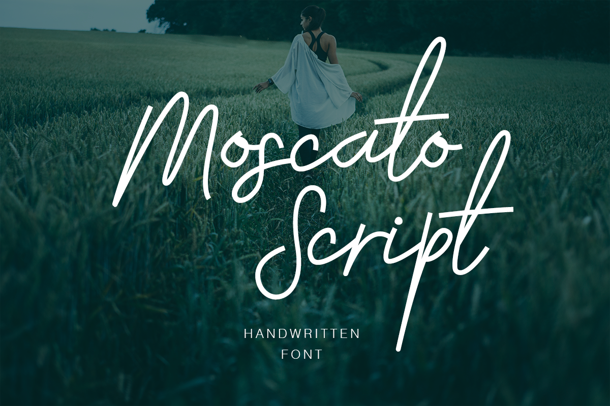 Print on Demand: Moscato Script & Handwritten Font By Factory738