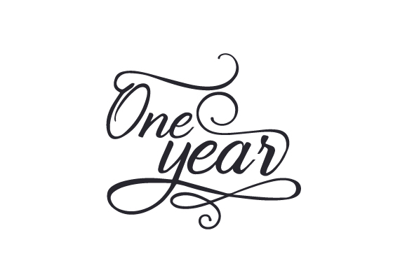 One year SVG Cut Files