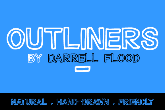 Print on Demand: Outliners Display Font By Dadiomouse