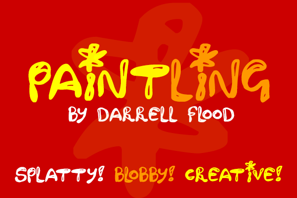 Print on Demand: Paintling Decorative Font By Dadiomouse
