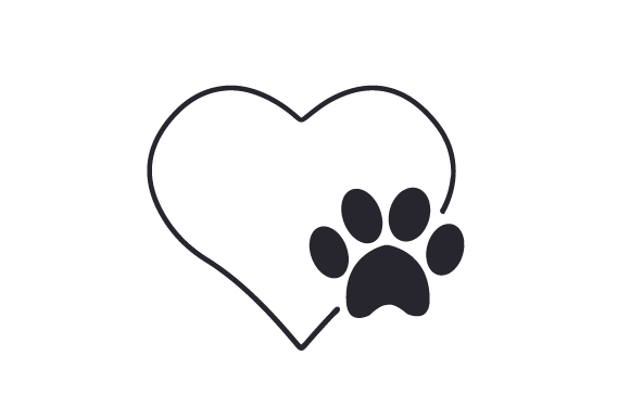 Download Free Paw Print And Heart Svg Cut File By Creative Fabrica Crafts for Cricut Explore, Silhouette and other cutting machines.