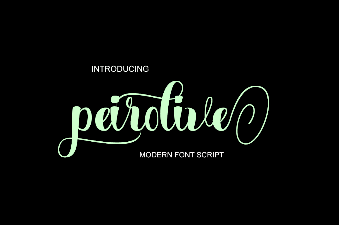 Print on Demand: Peirolive Script & Handwritten Font By typedesign93