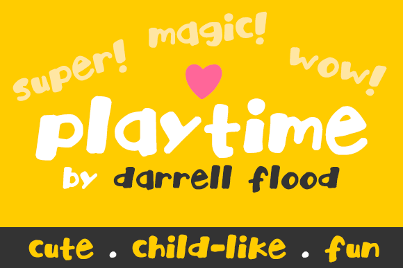 Print on Demand: Playtime Script & Handwritten Font By Dadiomouse
