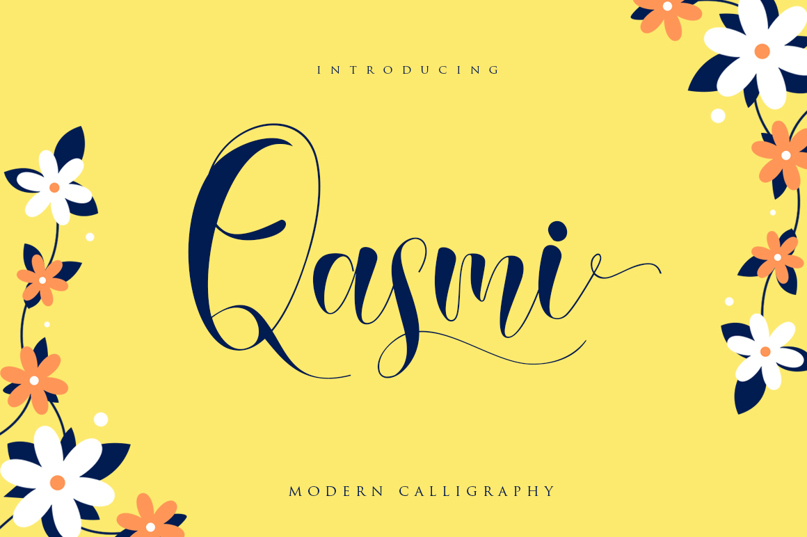 Print on Demand: Qasmi Script Script & Handwritten Font By Khurasan