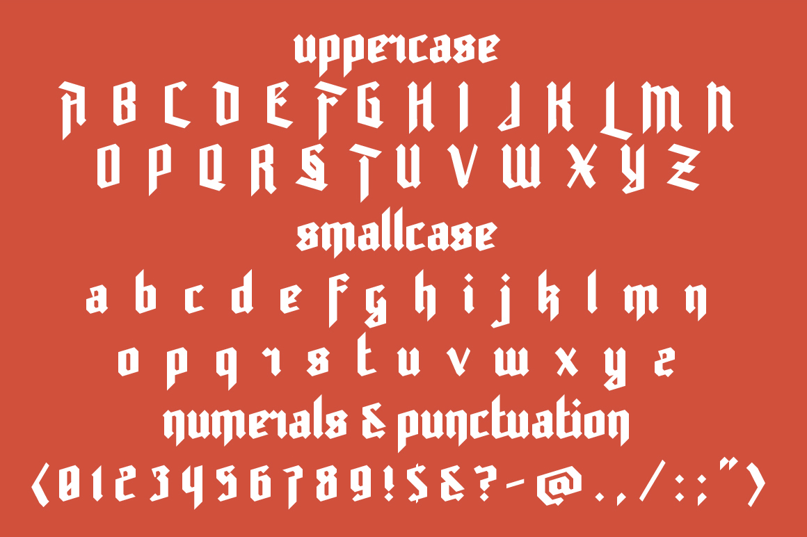 Print on Demand: Rot Shield Blackletter Font By NREY - Image 2