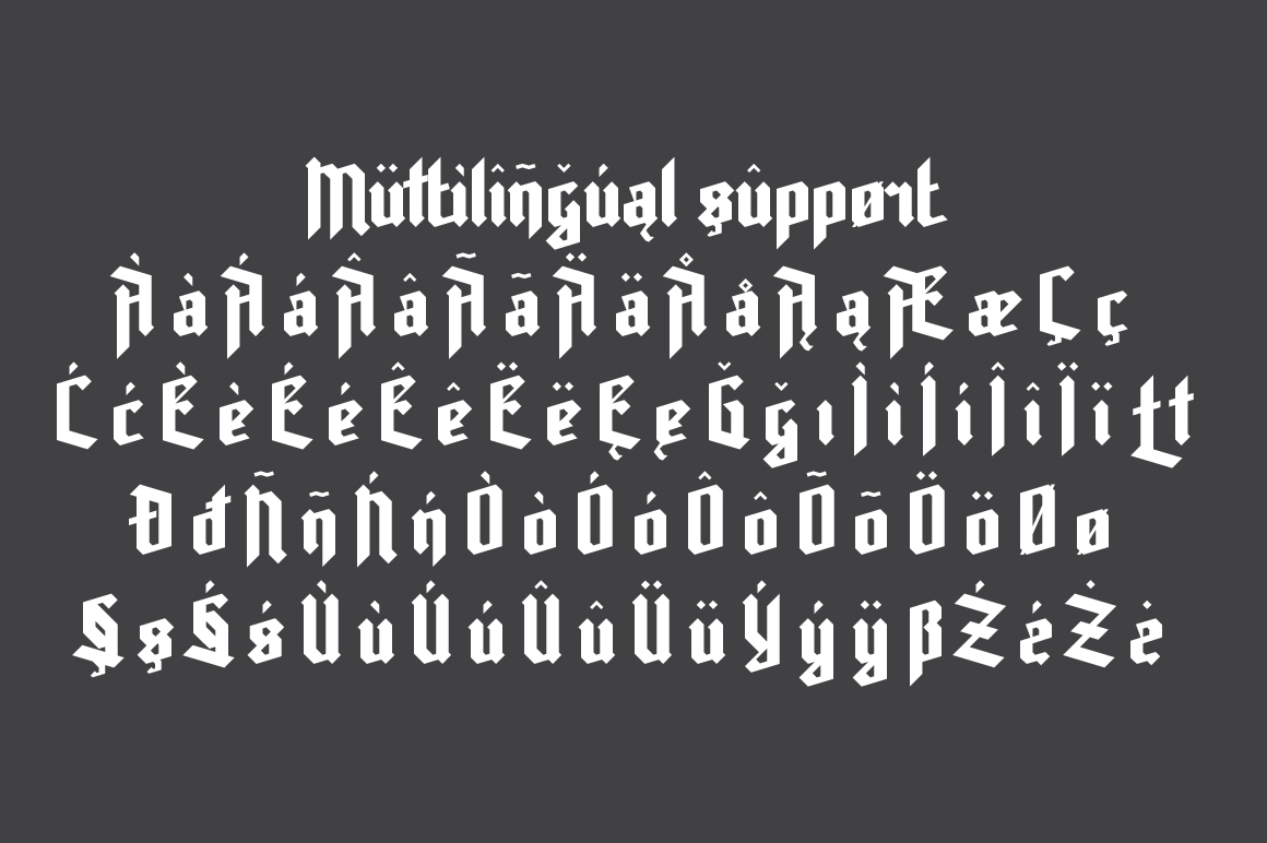 Print on Demand: Rot Shield Blackletter Font By NREY - Image 3