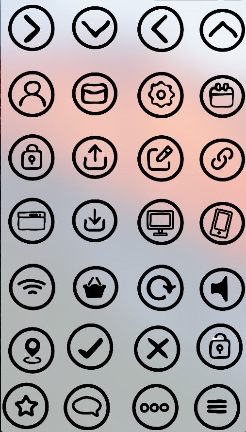 Print on Demand: Rough Icons Web Set Graphic Icons By GraphicsBam Fonts