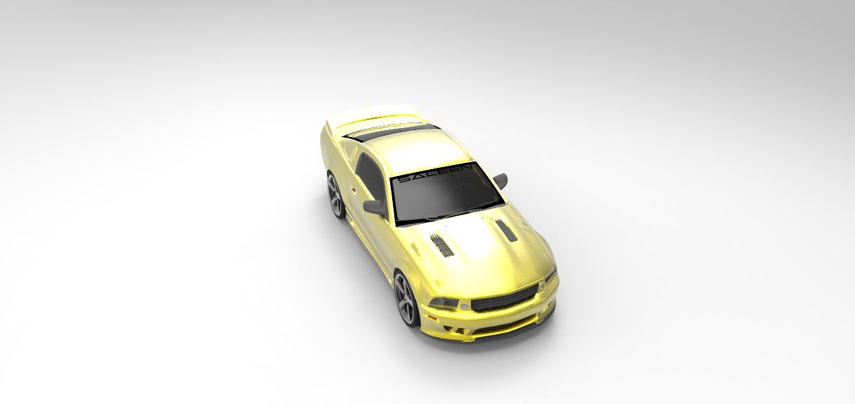 Print on Demand: Saleen S281 Extreme Graphic Illustrations By Gblack Id - Image 1