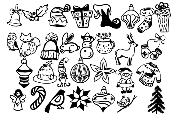Download Free Set With Handdrawn Doodles Svg Cut File By Creative Fabrica for Cricut Explore, Silhouette and other cutting machines.