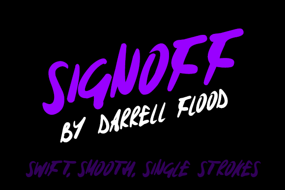 Print on Demand: Signoff Script & Handwritten Font By Dadiomouse