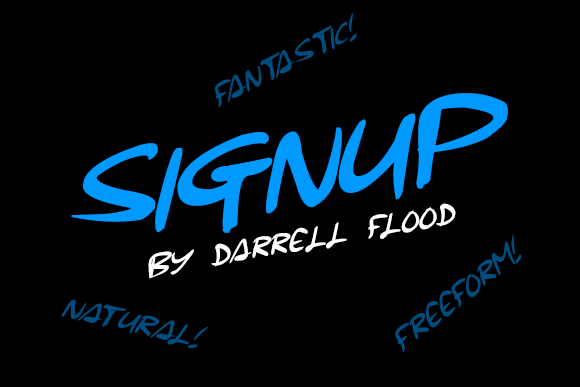 Print on Demand: Signup Script & Handwritten Font By Dadiomouse