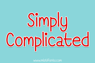 Simply Complicated Font By Misti