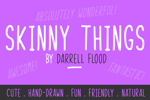 Print on Demand: Skinny Things Script & Handwritten Font By Dadiomouse