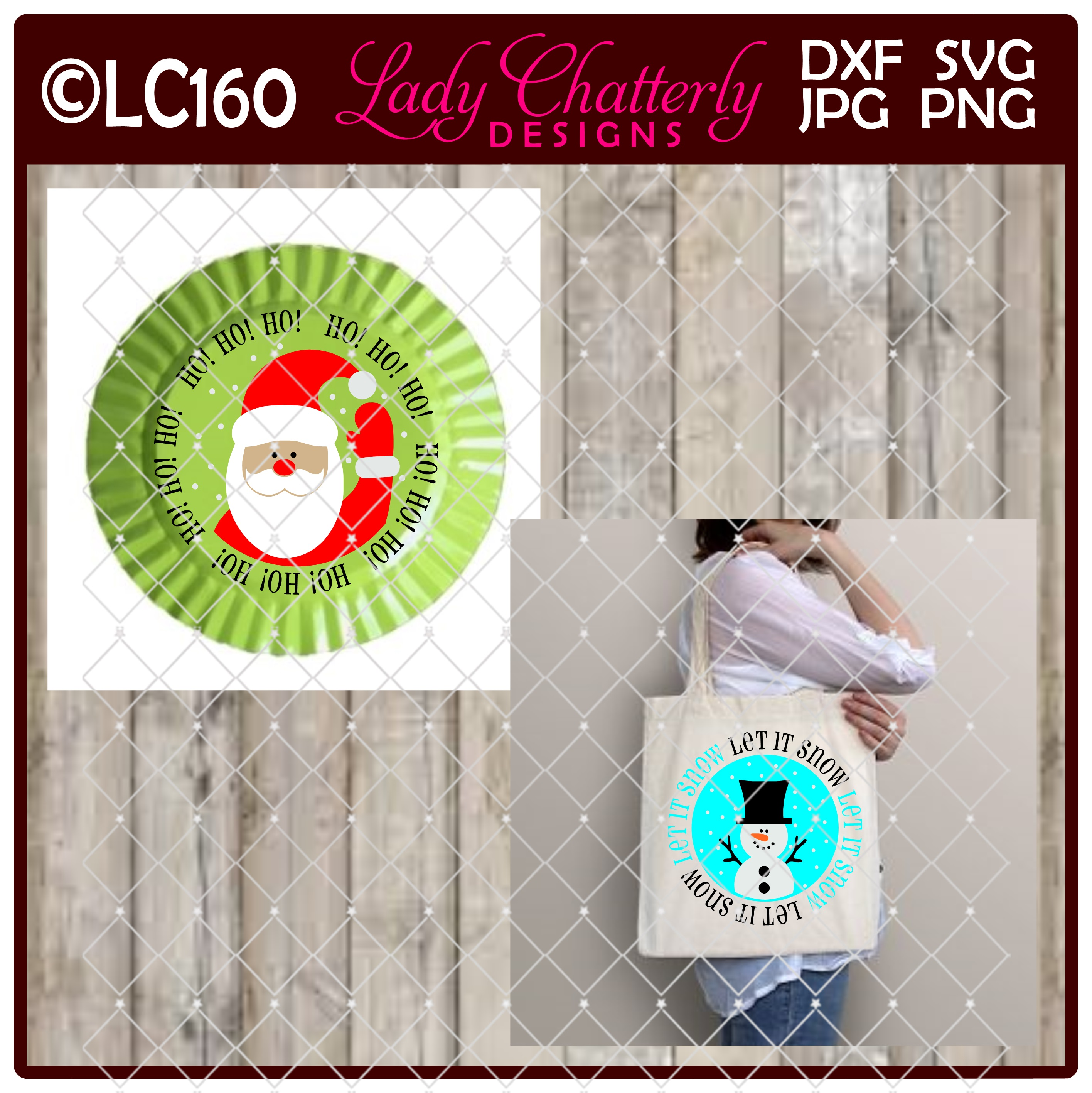 Download Free Snow Man Reindeer And Santa Claus Emblem Set Graphic By Lady for Cricut Explore, Silhouette and other cutting machines.