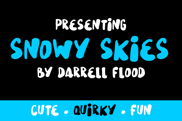 Print on Demand: Snowy Skies Script & Handwritten Font By Dadiomouse
