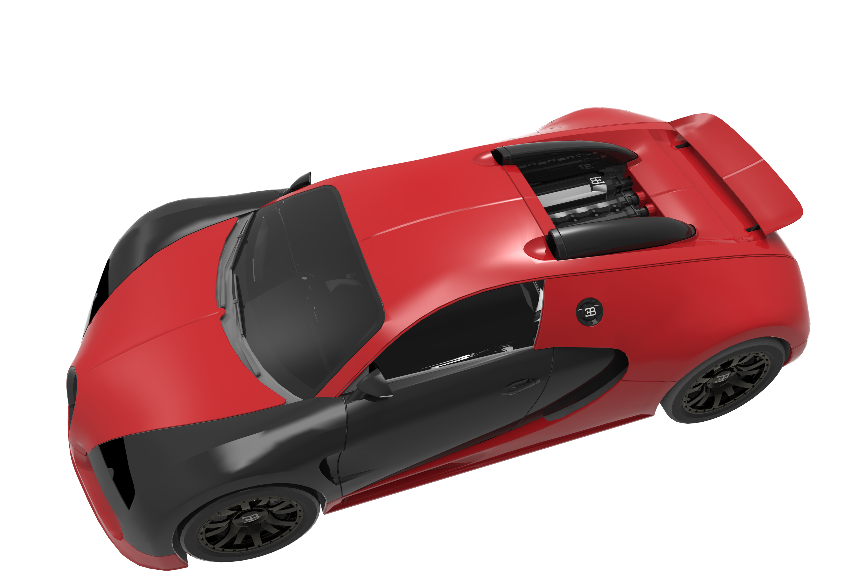 Print on Demand: Super Render EBVEYRON Graphic Illustrations By Gblack Id - Image 2