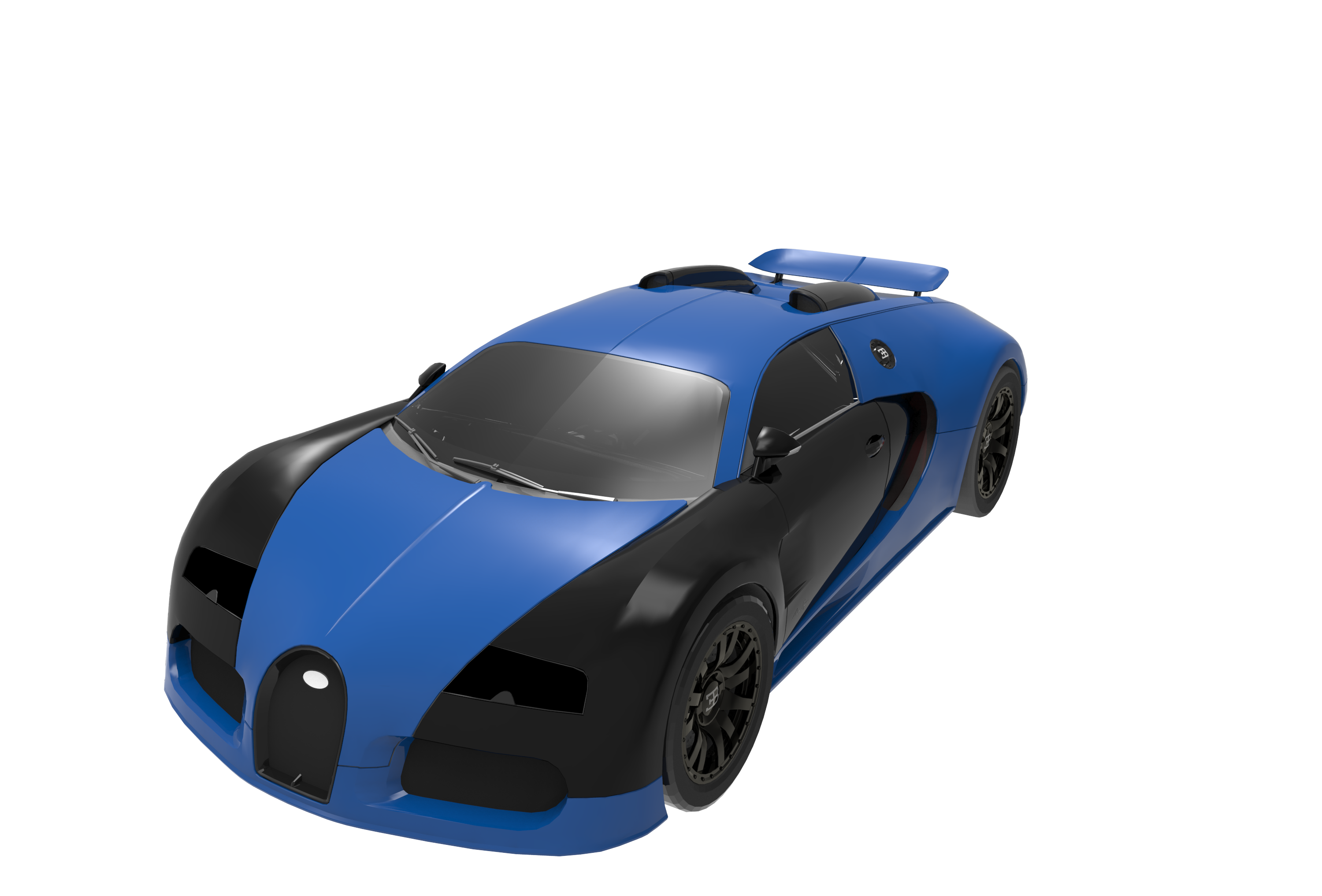 Print on Demand: Super Render EBVEYRON Graphic Illustrations By Gblack Id - Image 1