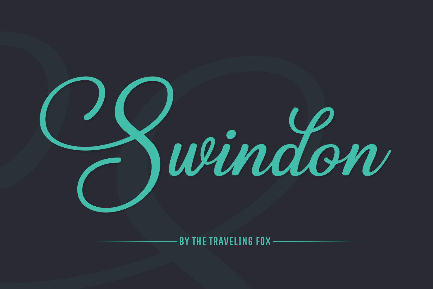 Print on Demand: Swindon Script & Handwritten Font By The Traveling Fox
