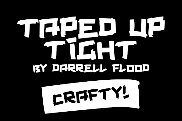 Taped Up Tight Decorative Font By Dadiomouse