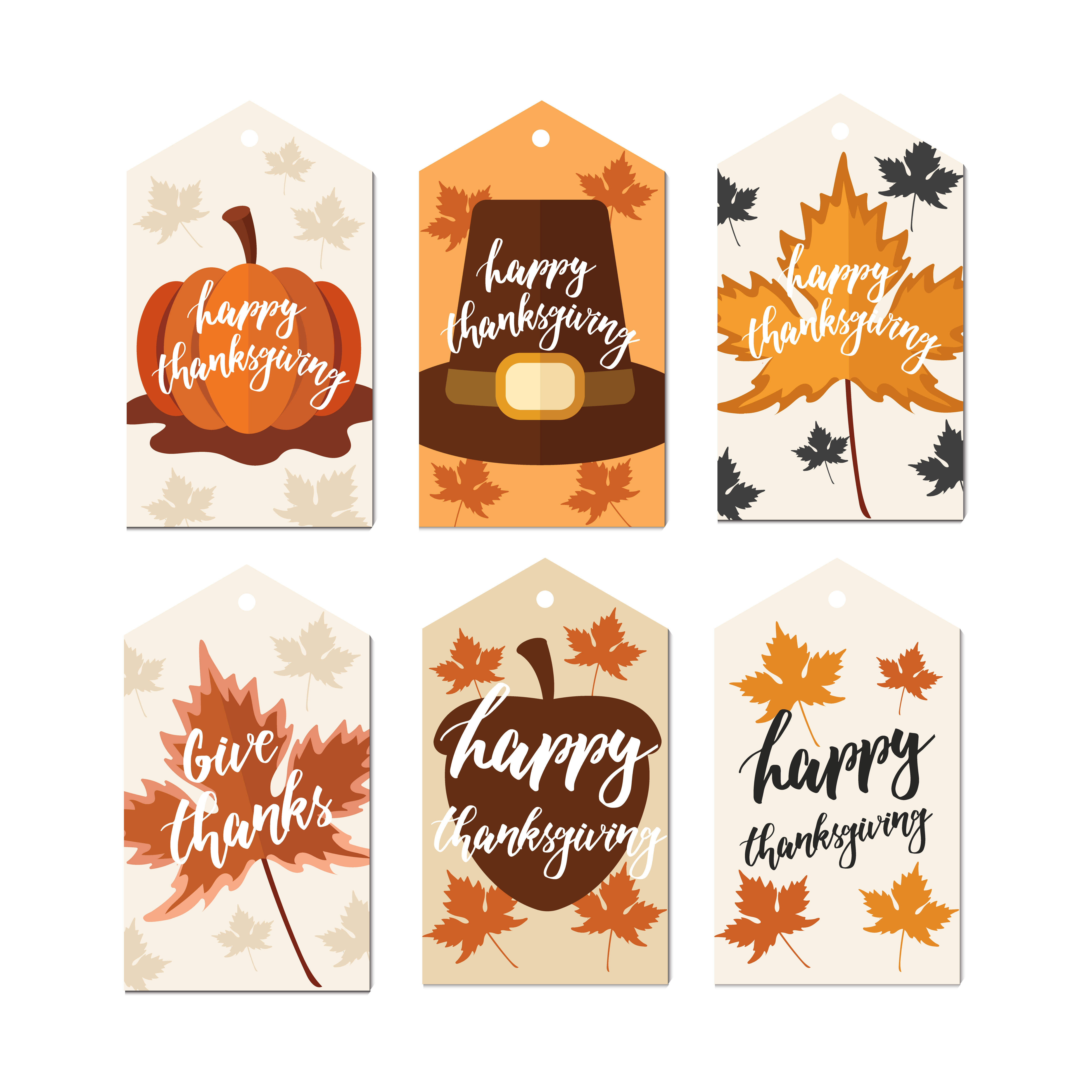 Print on Demand: Thanks Giving Label Tag Graphic Illustrations By Caoca Studios