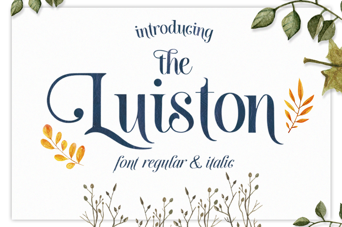 The Luiston Display Font By lickermelody