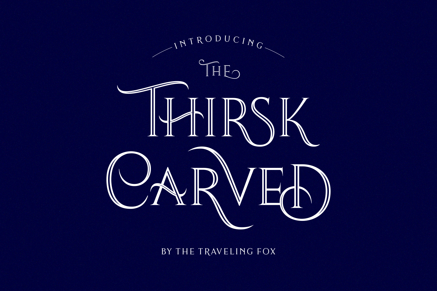 Print on Demand: Thirsk Carved Serif Font By The Traveling Fox