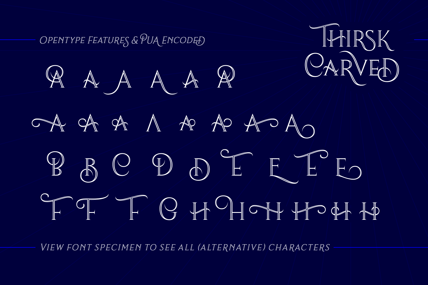 Print on Demand: Thirsk Carved Serif Font By The Traveling Fox - Image 5