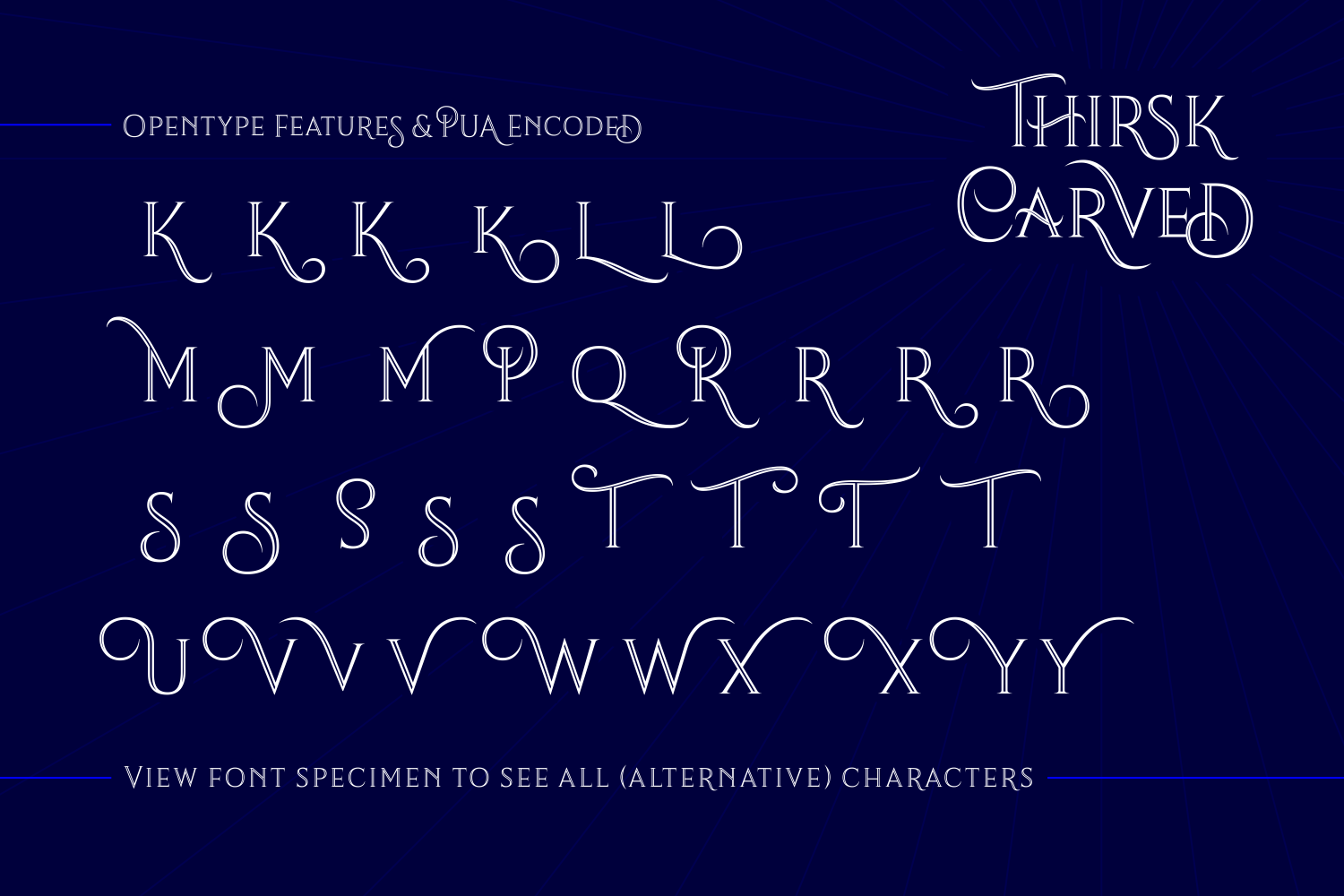 Print on Demand: Thirsk Carved Serif Font By The Traveling Fox - Image 6