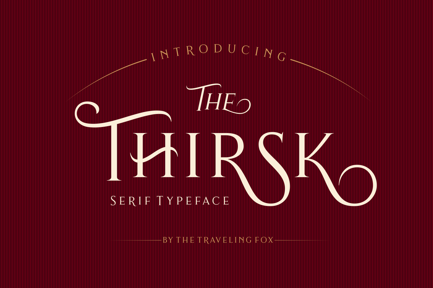 Print on Demand: Thirsk Serif Schriftarten von The Traveling Fox