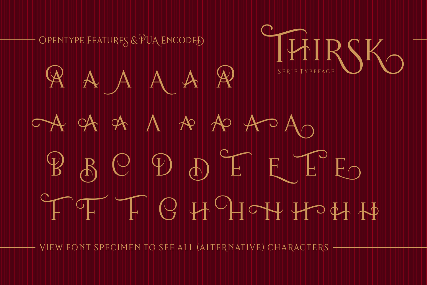 Print on Demand: Thirsk Serif Font By The Traveling Fox - Image 7