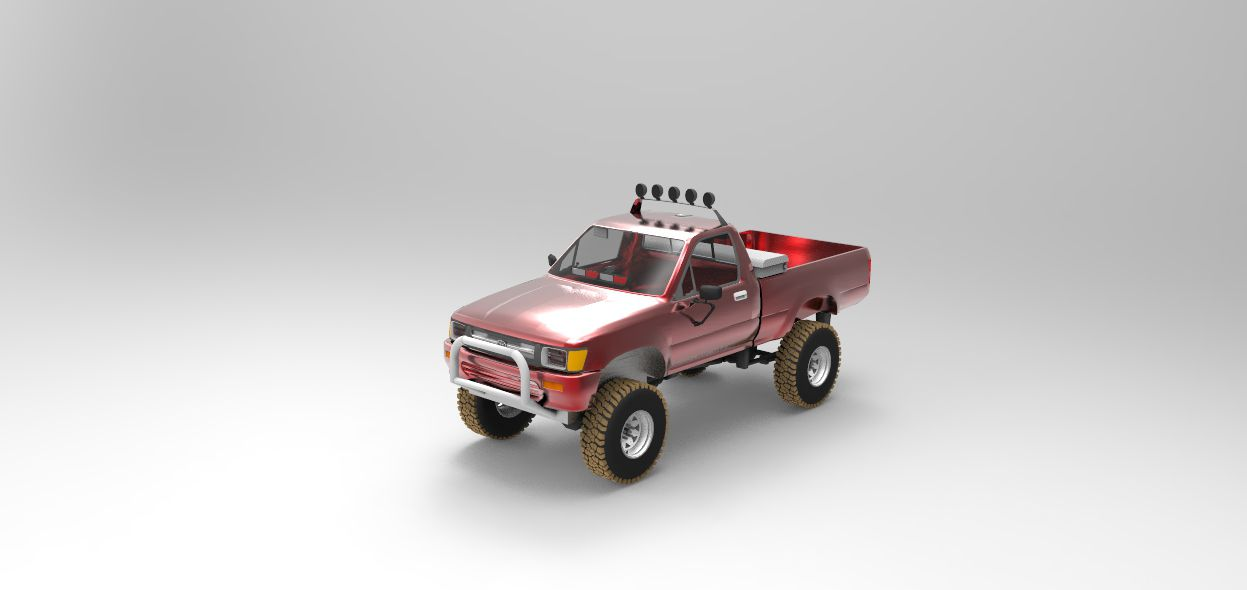 Print on Demand: Toyota Pickup Fire POV Graphic Illustrations By Gblack Id - Image 2