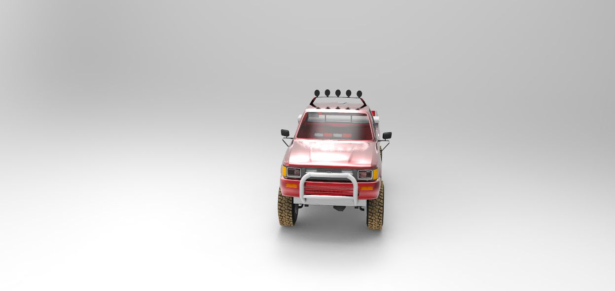 Print on Demand: Toyota Pickup Fire POV Graphic Illustrations By Gblack Id - Image 1
