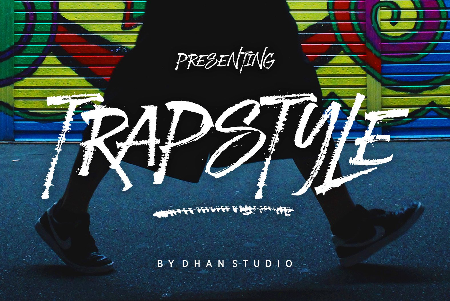 Print on Demand: Trapstyle Display Font By Dhan Studio
