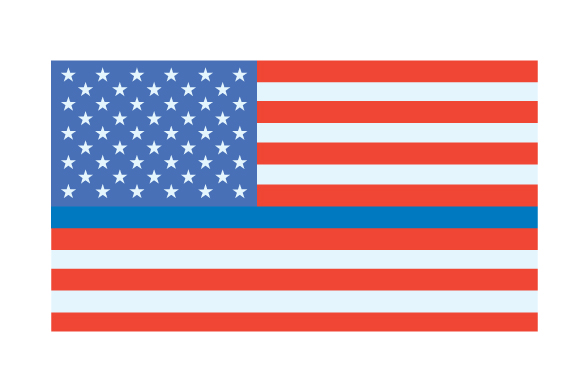 USA Flag - Blue Line Fire & Police Craft Cut File By Creative Fabrica Crafts