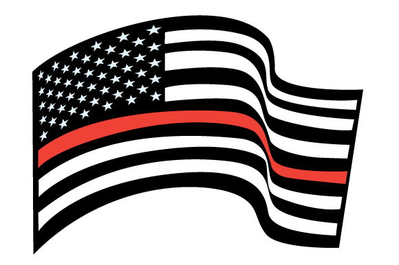 USA Flag - Red Line Fire & Police Craft Cut File By Creative Fabrica Crafts