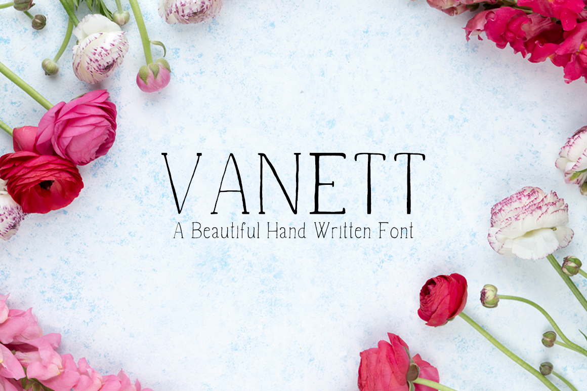 Print on Demand: Vanett Script & Handwritten Font By Creative Tacos - Image 1