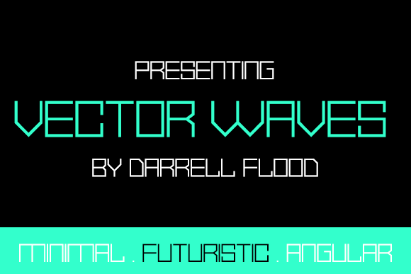 Print on Demand: Vector Waves Display Font By Dadiomouse