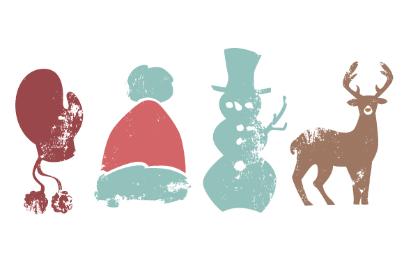 Vintage Christmas Elements Christmas Craft Cut File By Creative Fabrica Crafts