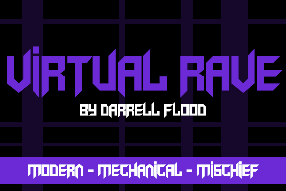 Virtual Rave Display Font By Dadiomouse