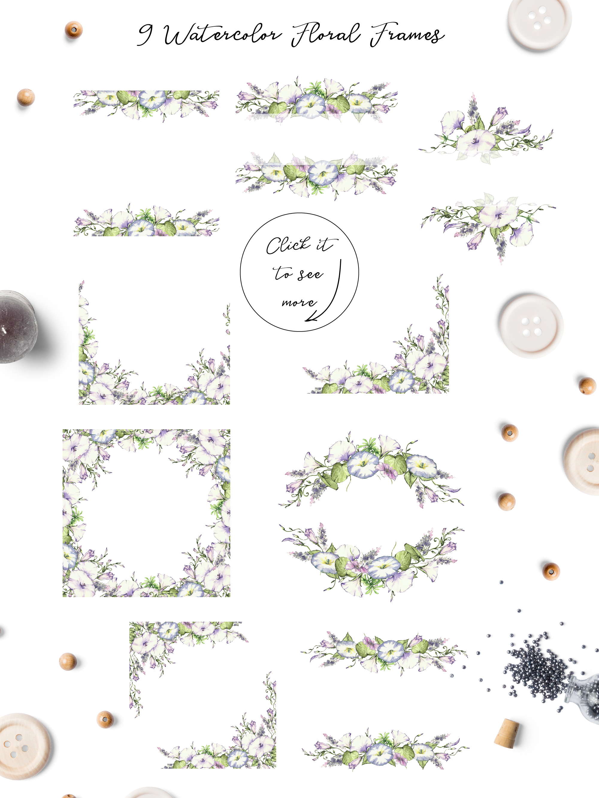 Print on Demand: Watercolor Flower Clip Art – Morning-Glory Graphic Illustrations By nicjulia - Image 4