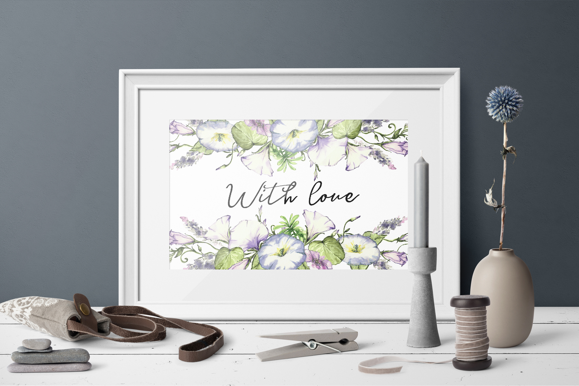 Print on Demand: Watercolor Flower Clip Art – Morning-Glory Graphic Illustrations By nicjulia - Image 9