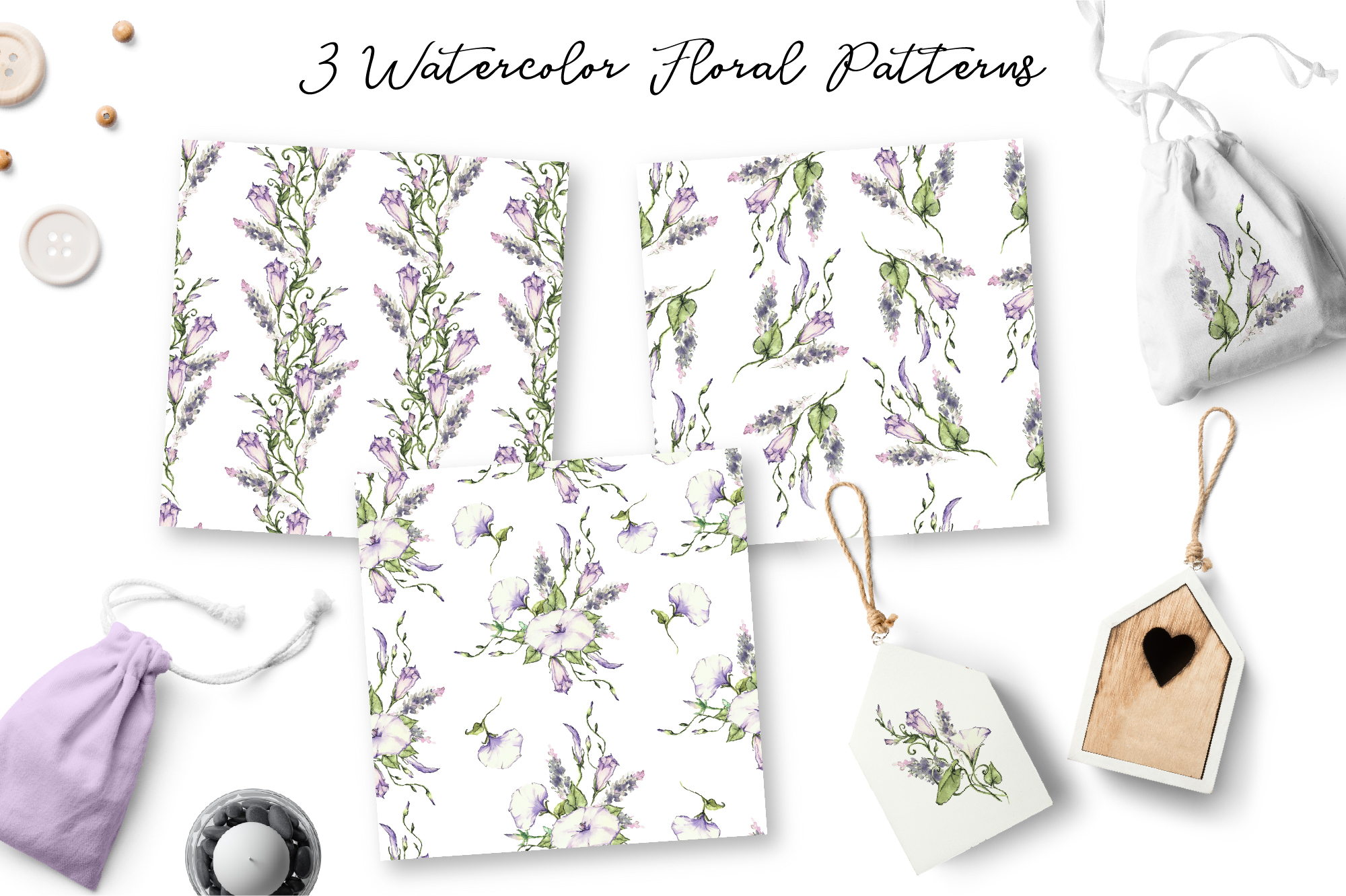 Print on Demand: Watercolor Flower Clip Art – Morning-Glory Graphic Illustrations By nicjulia - Image 5