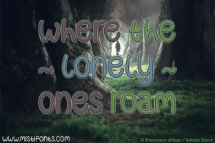 Where the Lonely Ones Roam Font By Misti