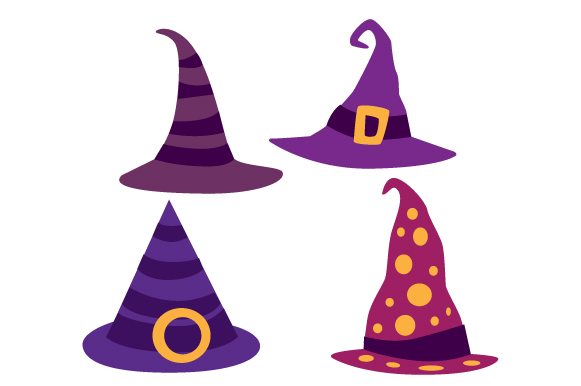 Witch Hats Designs & Drawings Craft Cut File By Creative Fabrica Crafts