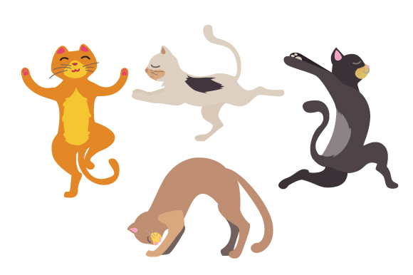 Yoga Cats Cats Craft Cut File By Creative Fabrica Crafts
