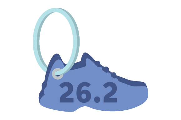 Runner Keychain 26.2 07 Designs & Drawings Craft Cut File By Creative Fabrica Crafts