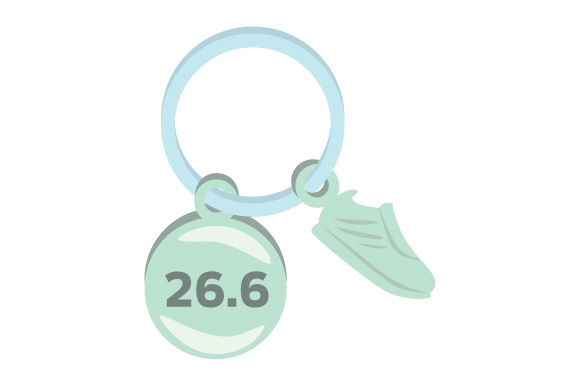 Runner Key Chain 26.6 04 Designs & Drawings Craft Cut File By Creative Fabrica Crafts