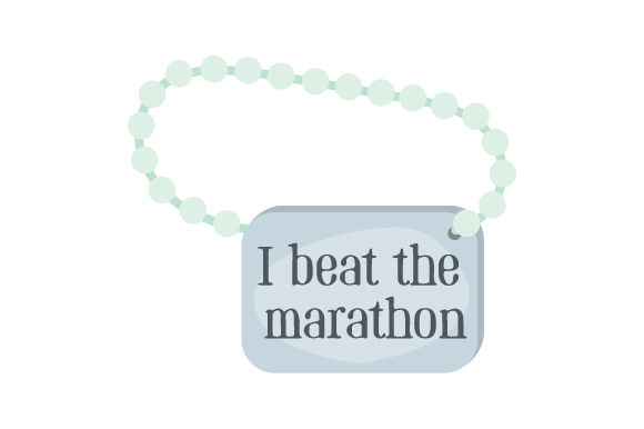 Runner Key Chain I Beat the Marathon 06 Designs & Drawings Craft Cut File By Creative Fabrica Crafts