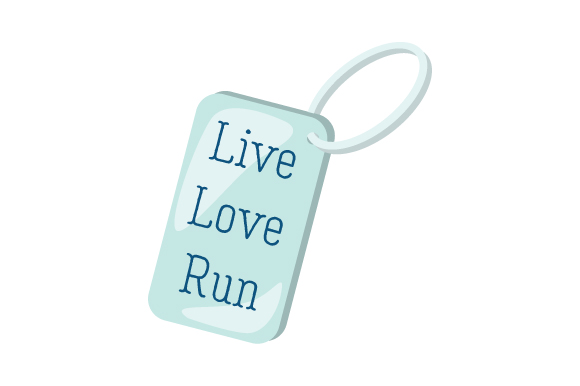 Runner Key Chains Live Love Run 09 Designs & Drawings Craft Cut File By Creative Fabrica Crafts