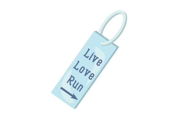 Runner Key Chain Live Love Run 10 Designs & Drawings Craft Cut File By Creative Fabrica Crafts